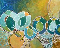 "I LOVE Nicky's work.       24"" x 30"", acrylic on 1.5"" gallery wrapped canvas, copyright Nicky Torkzadeh"