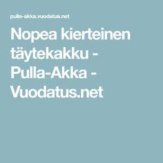 Nopea kierteinen täytekakku - Pulla-Akka - Vuodatus.net Recipes, Recipies, Ripped Recipes, Recipe, Cooking Recipes