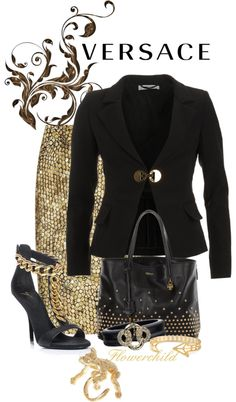 """""""Versace Gold - Monkey Ring!"""" by flowerchild805 on Polyvore"""