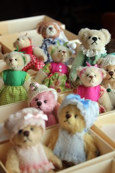 Teddybears for sale in Suomenlinna Toy Museum museum shop.