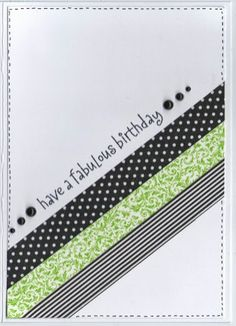 Have a fabulous birthday - Washi Card Inspired by The Crooked Stamper: You Are My Happy