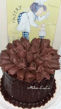 Bolo de charme de chocolate;