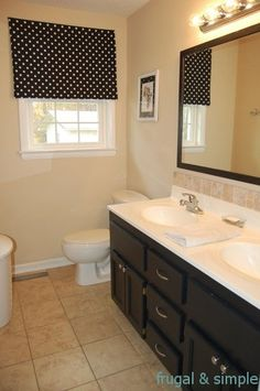 frugal and simple bathroom makeover