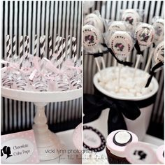 Terri's Treasures Cake Pops & Silhouette Pops featured at Kate's Glamour Girl Party on The Tomkat Studio blog