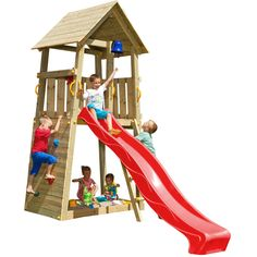 Blue Rabbit play tower BELVEDERE with slide + climbing wall with rock climbing – All For Garden Kids Backyard Playground, Backyard For Kids, Swing Set Plans, Kid Friendly Backyard, Color Verde Claro, Kids Yard, Climbing Wall, Rock Climbing, Outdoor Activities For Kids