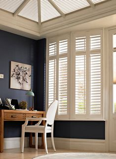 Transform your Conservatory with our Shutter collection, all handcrafted in the UK. Get off all Conservatory Shutters! Conservatory Playroom, Conservatory Interiors, Conservatory Design, Interior Window Shutters, Vinyl Shutters, Contemporary Interior Design, Bathroom Interior Design, Best Interior Paint, Bungalow Homes
