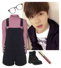 """KIM SEOKJIN BTS inspired outfit"" by another-fangirl-called-indi ❤ liked on Polyvore featuring Glamorous, Miss Selfridge and Timberland"