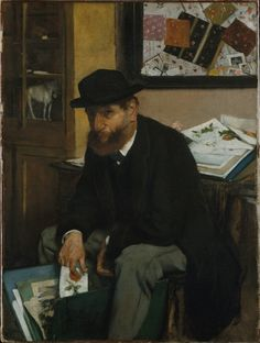 Edgar Degas (French, 1834-1917), The Collector of Prints, 1866. Oil on canvas, 53 x 40 cm. The Metropolitan Museum of Art, New York.