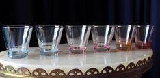 FABULOUS For The RETRO Themed Bar 6 Harlequinn Coloured Glass