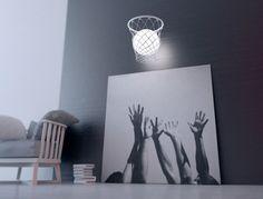 Lámpara canasta de baloncesto   Habitaciones Tematicas