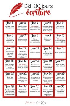 Blog Writing, Creative Writing, Writing A Book, Writing Tips, Writing Prompts, Writing Games, French Language Lessons, French Language Learning, 30 Day Writing Challenge
