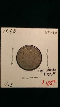 1888 Liberty Nickel VF-30