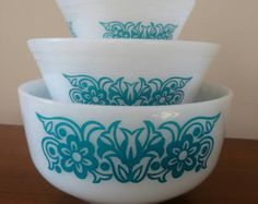 Vintage Federal Glass Mixing Bowls - set of 3
