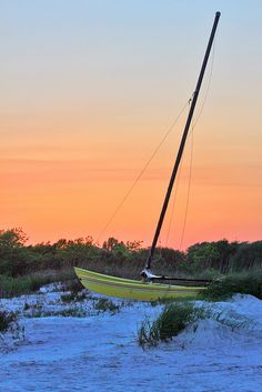 Evening Sailboat on the Beach by Seth Berry Photography, via Flickr