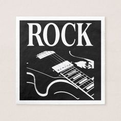 Rock & Guitar - Cocktail Paper Napkins - diy cyo customize create your own personalize