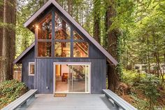 See this home on Redfin! 1050 Cazadero Hwy, Cazadero, CA 95421 Tiny House Cabin, Tiny House Living, Tiny House Plans, Cabin Homes, Cottage Homes, My House, Small House Swoon, Tiny House Family, Cabin Design