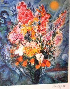 marc chagall paintings | Flowers by Marc Chagall | The Loft Fine Art