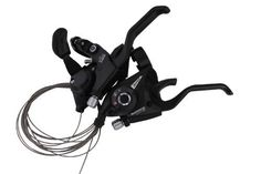 Shimano ST-EF500 3 x 7 Speed Bike Shift / Brake Lever set. Model: Shimano ST-EF500. Left & Right: 3 x 7 21speeds. Color:Black. Weight:353 g. Included : 2 x stainless steel cables Left & Right Brake/Shifter Combo set.