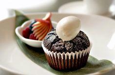 The award-winning Souffle Cupcake at Kyotofu, New York's hottest Japanese dessert bar.    Kyotofu is Rated Top 5 Best Desserts in New York.    #dessert #desserts #nyc #souffle #cupcake #newyorksmash