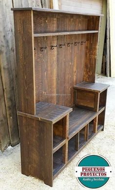 See the space up the wardrobe, it can be used for placing the items that are not used often; but need to be stored at a proper place. The pallets are painted dark brown, the color can be chosen according to the wall color or the other items placed in the bedroom.