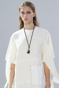 Bell pendant necklace at Céline SS15