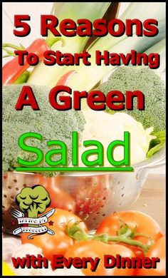 5 Reasons To Start Having A Green Salad With Every Dinner by Tattoo My Broccoli Broccoli, Cantaloupe, Salads, Good Food, Health Fitness, Tattoo, Dinner, Fruit, Awesome