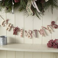 Shabby chic Christmas sign