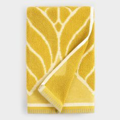 Chartreuse Green Leaf Sculpted Anise Hand Towel by World Market , Bathroom Red, Bathroom Wallpaper, Bathroom Towels, Washroom, Bathroom Ideas, Geometric Shapes Wallpaper, World Market Store, Decorative Towels, Bath Towel Sets