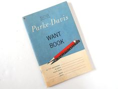 Vintage 1961 Parke Davis Want Book by bythewayside on Etsy