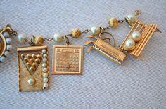 Vintage 1950's 14K Gold Charms