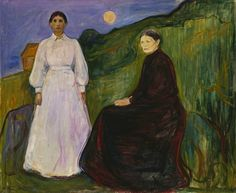 Edvard Munch, Mother and Daughter, 1897.