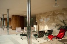 The Villa of Greta and Fritz Tugendhat designed by architect Ludwig Mies van der Rohe