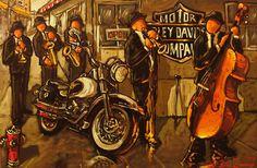 Oeuvres de l'artiste peintre Claude Bonneau Claude, Les Oeuvres, Vintage Posters, Illustration Art, Artsy, Motorcycle, Artwork, Quebec, Painting