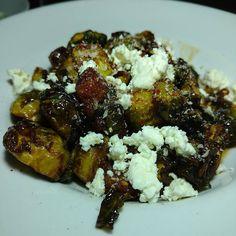 Carmlized brussel sprouts with crispy pork #losangeles  #culvercity  #foodie #foodporn #eats #eeeeeats  #pork #bacon  #brussels  #eatla #dinela #dinner #foodiegram  #foodgasm  #LA #instapic  #like #love #follow #nom #yum #dinner