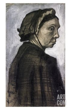 Sien's Mother Wearing a Dark Cap Print by Vincent van Gogh at Art.com