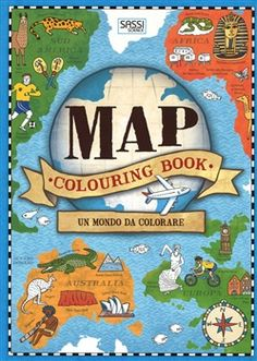 Map colouring book. Un mondo da colorare