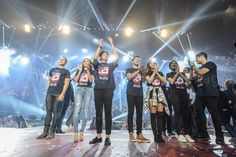Here are Piolo Pascual and the three biggest Kapamilya love teams: #KathNiel (Kathryn Bernardo and Daniel Padilla), #ElNella (Elmo Magalona and Janella Salvador), and #LizQuen (Liza Soberano and Enrique Gil) smiling for the camera and feeling confident and enthusiastic after the final production number of ASAP Live in New York at the Barclays Center, Brooklyn, New York, U.S.A. last September 3, 2016. They're very good, indeed.... :-) Thank you for the love, Kapamilya! #ASAPLiveinNewYork