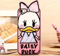 New Brand Hot 3D Daisy Funny Duck 5.5 Inch Silicon Back Cover Case For Apple iPhone 6 Plus Free Shipping-in Phone Bags & Cases from Electronics on Aliexpress.com   Alibaba Group