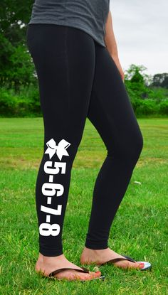 Our super cozy Cheer Leggings are ideal for practice, warm-ups, and relaxing at home! Warm, comfortable and in style, each cotton-spandex blend legging features our exclusive Cheerleading artwork printed on the leg. Add your team name to our personalized leggings! Makes the perfect gift for any cheerleader, teammate or coach.