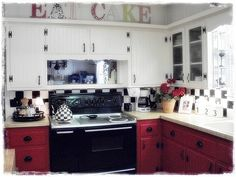 Humble Cottage style living in the heart of Texas home tour   Debbiedoo's  Love the EAT CAKE sign!