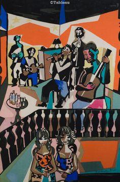 Emiliano Di Cavalcanti   Baile 1965 serigrafia