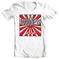 Loudness-T-shirt-80s-heavy-metal-rock-concert-retro-rock-cotton-printed-tee