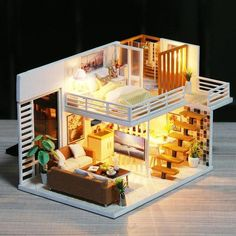 33 Gorgeous Tiny House Interior Design And Decor Ideas Diy Dollhouse, Dollhouse Furniture, Home Furniture, Miniature Dollhouse, Wooden Dollhouse, Doll Houses For Sale, Tiny House Design, Miniature Houses, Small Living Rooms