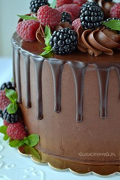 Ganache z masłem do tynkowania Drip Cakes, No Bake Cake, Frosting, Catering, Panna Cotta, Cake Decorating, Dips, Good Food, Food And Drink
