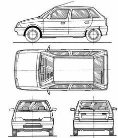 Citroën AX blueprint