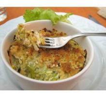 Recette - Crumble de poireaux au fromages, lard et noix - Notée 4/5 par les internautes