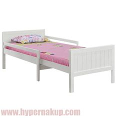 Posteľ s nastaviteľnou dĺžkou, biela, EUNIKA Toddler Bed, Furniture, Home Decor, House, Child Bed, Decoration Home, Room Decor, Home Furnishings, Home Interior Design