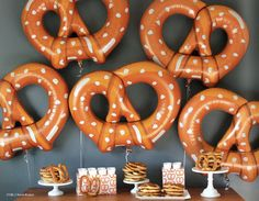 Huge food balloons pretzel balloon by FabfunctionsByKelly on Etsy