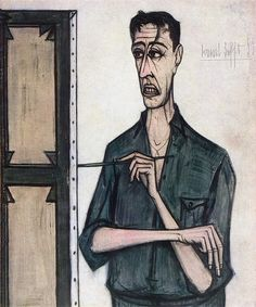 Bernard Buffet - Self portrait, 1955 Portraits, Portrait Art, Edvard Munch, Illustrator, Muse Art, Its A Mans World, Art Moderne, Beauty Art, Life Drawing