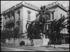 Old Photos, Vintage Photos, Old Greek, Athens Greece, Neoclassical, Big Houses, Once Upon A Time, Old Town, The Past